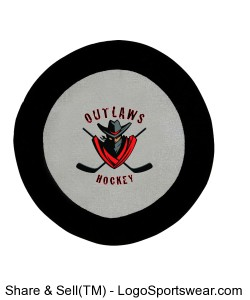 Hockey Puck Shaped Towel Design Zoom